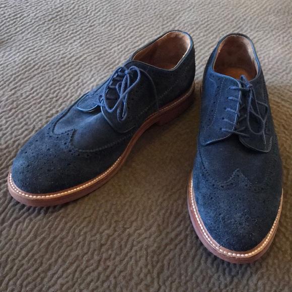 9c12191a01e5b J. Crew Shoes   J Crew Kenton Navy Blue Suede Wingtip Oxford Dress ...